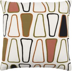 Charade Olive/Rust Pillow