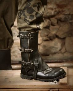 "RUSSIAN CRIMINAL TATTOOS > ""Sh70 Jack Spats"" Vintage Military Leather Boot"