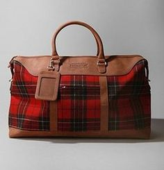 urban outfitters plaid weekender bag