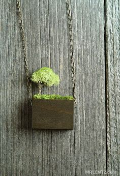 All Natural Tree NecklaceMade with real moss