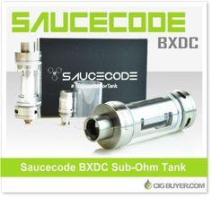 SauceCode BXDC Sub-Ohm Tank – $26.99: http://www.cigbuyer.com/saucecode-bxdc-sub-ohm-tank/ #subohm #vaping #subtank #saucecode #vapelife #vapedeals