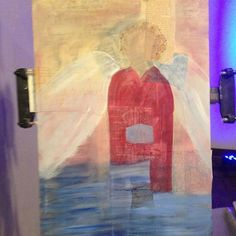 Vagabond Gypsy day 1: Painting during live worship...will finish tomorrow. #vagabondgypsytrip http://ift.tt/1XF0E2p