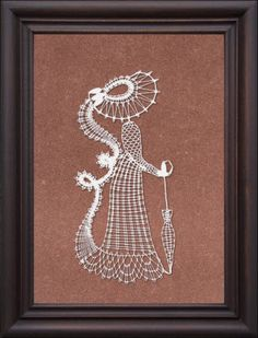 Дамы Bobbin Lacemaking, Nail String, Bobbin Lace Patterns, Embroidery, Frame, Painting, Vintage, Wall, Paper Engineering