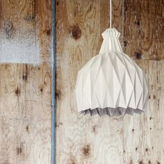 SHIRO Suspension Lamp by Metrocuadro Design is lighter than its buld - CrowdyHouse #lamp #origami #home