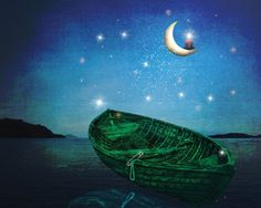 By the Light of the Moon - Ann Baker (Print)