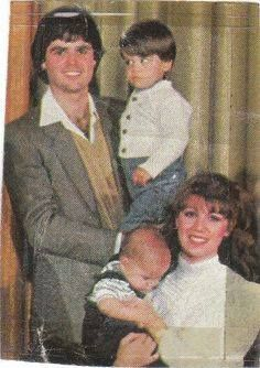 Donny holding Don Jr and Debbie holding Jeremy.