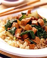 Bok Choy and Tofu Stir-Fry  This may not sound good to most people, but there are two things in this that I've been wanting to try.