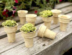 Adorable ice cream cone planters