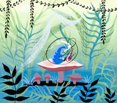 Visual Development from Alice in Wonderland by Mary Blair
