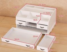 Органайзер для косметики своими руками из дерева Diy Storage Boxes, Desk Organization Diy, Diy Desk, Cardboard Furniture, Cardboard Crafts, Woodworking Furniture, Diy Arts And Crafts, Home Crafts, Diy Crafts