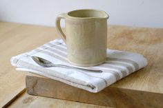 Teeny cafe style pouring jug for milk - hand thrown and glazed in pepper yellow