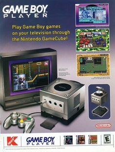 oldgamemags: The Gameboy Player for the Gamecube was actually pretty rad!  #gaming #ads
