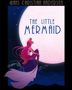 Brittney Lee the little mermaid illustration drawing - dessin la petite sirène Disney Magic, Disney Art, Disney Movies, Walt Disney, Brittney Lee, Mermaid Illustration, Mermaid Pictures, 6th Anniversary, Vintage Book Covers