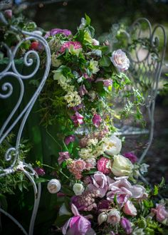 #Tables #vintage #chairs #flowers #forest #roses #photography #foodphotography #styling