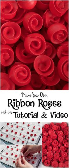 This ribbon rose video tutorial shows how to make simple royal icing roses that are perfect for decorating sugar cookies. Cake Icing, Royal Icing Cookies, Sugar Cookies, Cupcake Cakes, Cake Decorating Techniques, Cake Decorating Tutorials, Cookie Decorating, Decorating Cakes, Icing Recipe