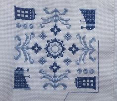 how awesome is this?? Naughts & Cross stitches: Doctor Who - Finished