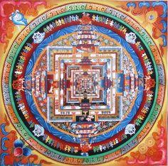 Kalachakra Mandala Thangka- Original Painting from Nepal, $129.00