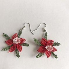 Items similar to Needle Lace Earrings - Handmade Earrings - Turkish Oya on Etsy Lace Earrings, Crochet Earrings, Native American Beading, Needle Lace, Eminem, Earrings Handmade, 3d, Etsy, Jewelry