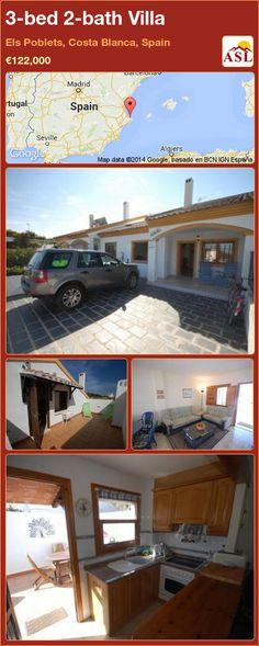 3-bed 2-bath Villa in Els Poblets, Costa Blanca, Spain ►€122,000 #PropertyForSaleInSpain
