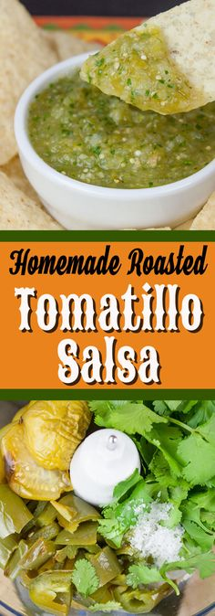 Homemade Roasted Tomatillo Salsa (salsa verde) Homemade Roasted Tomatillo Salsa (salsa verde) – Just like your favorite restaurant's, if not better! Easy, fresh, bright, delicious and so much better than the over salted store bought kind. Tomitillo Recipes, Radish Recipes, Mexican Food Recipes, Cooking Recipes, Healthy Recipes, Pepper Recipes, Cooking Cake, Whole30 Recipes, Mexican Dishes