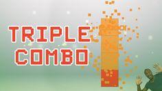 SqUARe-X Original puzzle game #6 - Triple combo !  Après le double combo je vous montre comment réaliser un triple combo.