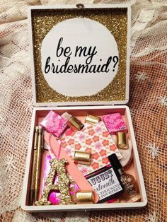 Bridesmaid Gifts Ideas Will You be My Wedding is a ceremony in which two people are united in marriage. In a wedding, bridesmaids are important people who will stand next to you on your wedding day… Wedding Wishes, Our Wedding, Wedding Gifts, Dream Wedding, Wedding Stuff, Wedding 2017, Wedding Venues, Wedding Photos, Bridesmaids And Groomsmen