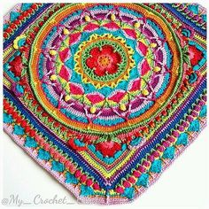 Ravelry: Project Gallery for Sophie's Universe CAL pattern by Dedri Uys - yes I am making a Sophie too Crochet Afghans, Crochet Granny, Crochet Doilies, Crochet Stitches, Crochet Blankets, Crochet Home, Crochet Crafts, Crochet Projects, Crochet Mandala Pattern