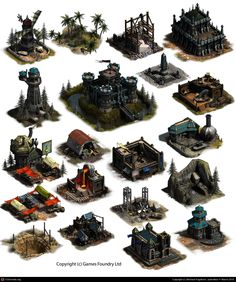 Tribal Realms: Dwarven Buildings (GAME ART) by Michael Engstrom   3D   CGSociety