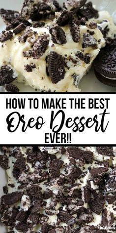 - Dessert Receipes - Learn how to make THE BEST Oreo Dessert! Here are the best tips and tricks for. Learn how to make THE BEST Oreo Dessert! Here are the best tips and tricks for this no-bake dessert that will guarantee amazing results! Oreo Desserts, No Bake Oreo Dessert, Dessert Crepes, Desserts For A Crowd, Mini Desserts, Delicious Desserts, Dessert Healthy, Oreo Pudding Dessert, Oreo Dirt Pudding