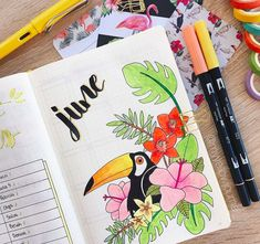 Amazing Bullet Journal Monthly Cover Ideas For Summer