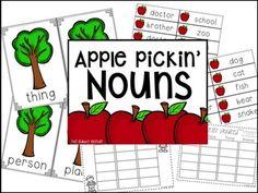 Apple Pickin' Nouns FREEBIE!