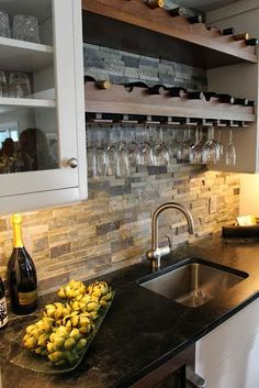 Kitchen Interiors: Wine Racks and Exposed Brickwork