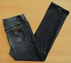 Joe's Jeans 36 33 Mens The Classic Straight Maximus Dark indigo Stretch denim  #JoesJeans #ClassicStraightLeg