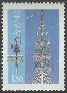 """Åland 1,50 mk  1985 """"Maypole"""" [Facit 10i Mi 10x]"""