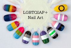 LGBTQIAP  Acrylic Nails by LetMeSeeYourNails on Etsy