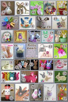 32 Creative Bunny Rabbit Accessories – via @beckastreasures with @CrochetRochelle | 11 Easter Animal Crochet Pattern Round Ups!