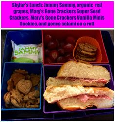 Back to School Lunch Idea - Mary's Gone Crackers Review and Giveaway (Ends 9/4) #MomBlogTourFF | The Mama Maven Blog @GoneCrackers #glutenfree