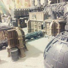 Warhammer Terrain, 40k Terrain, Wargaming Terrain, Warhammer 40k, Necromunda Gangs, Fantasy Miniatures, Board Ideas, Tabletop, Scenery