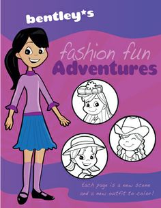 Check out the #coloring book I designed for girls....makes a #great gift