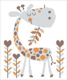 BOGO FREE! Funny GIRAFFE original pattern - Dreaming giraffe cross stitch pdf pattern - pdf pattern instant download #08 by Rainbowstitchcross on Etsy