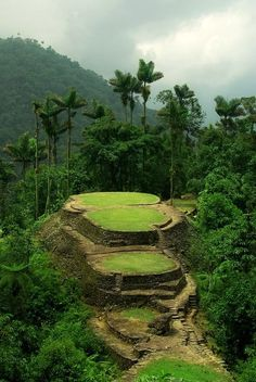 "The pre-Columbian archaeological site of Ciudad Perdida (Spanish for ""Lost City""), located in Sierra Nevada, Colombia,Dream destinations, Surreal Places To Visit Sierra Nevada, Places To Travel, Places To See, Travel Destinations, Places Around The World, Around The Worlds, Ancient City, Magic Places, Site Archéologique"