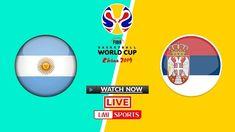 FIBA Live: Argentina vs Serbia Basketball Live Stream 10 Sep 2019 Fiba Basketball, Watch Nba, Rugby World Cup, Team Usa, Espn, Competition, Live, Football Squads, Argentina