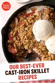 Our Best-Ever Cast-Iron Skillet Recipes Bake a puffy pancake, sizzle some fajitas or flip a cake upside down-with these cast iron skillet recipes. A trusty skillet can take you from breakfast to dinner and dessert! Cast Iron Skillet Cooking, Best Cast Iron Skillet, Iron Skillet Recipes, Cast Iron Recipes, Skillet Meals, Skillet Bread, Dutch Oven Cooking, Cast Iron Dutch Oven, Food To Make