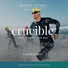 Crucible: a severe test Fancy Words, Big Words, Words To Use, Great Words, Foreign Words, Latin Words, Vocabulary Words, Vocabulary Builder, Idioms And Proverbs