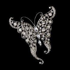 Butterfly Bridal Brooch - perfect for your wedding bouquet stem, purse, cake ribbon or wrap! affordableelegancebridal.com
