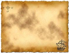 Treasure Map Template for pirate party games or pirate party invitations! Just add to photoshop and go nuts!