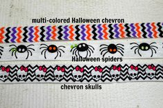 Make some great Halloween hair bows or hair elastics with these cute Halloween printed elastics. A fun and easy DIY project! We also have tons of other colored elastic for only $0.99 per yard! Stock up now!