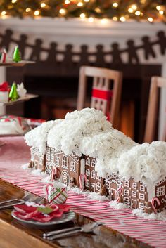 Christmas Gingerbread Town Centerpiece