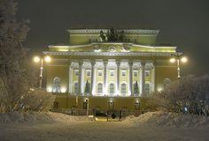 theatre St. Petersburg, Russia. #winter