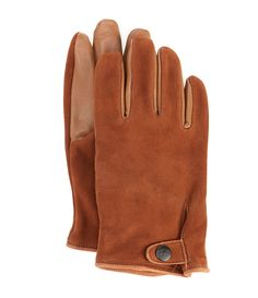 UGG Men's Tabbed Splice Vent Leather Gloves - Chocolate XL Mens Gloves, Leather Gloves, Sexy Homecoming Dresses, Dillards, Uggs, Latest Trends, Chocolate, Collection, Style